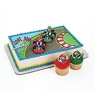 Super Mario Cake Topper and 24 Cupcak…