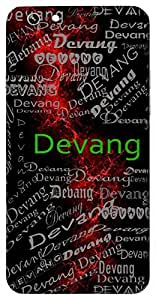 Devang (Part Of God) Name & Sign Printed All over customize & Personalized!! Protective back cover for your Smart Phone : Moto G-4-Plus