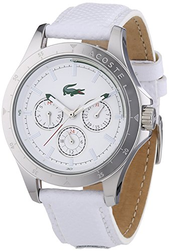 Lacoste 2000846 Lady's Mackay White Leather Strap White Dial Watch