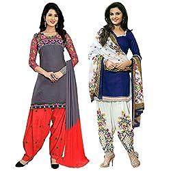 Ruaab Fashion Women Designer Dress Materials Combo(RF_AD_502)