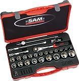 SAM Outillage 75-s27Pa Box von Steckdosen/Zubehör 1/227Werkzeuge Größe von 8bis 32mm