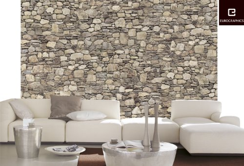 Platin art wall mural deco wall stone wall 8 feet 4 inch - Toile chambre adulte ...