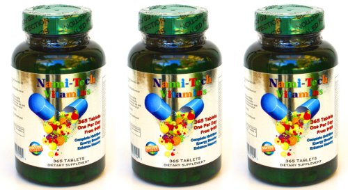 3 Bottles New Tech High Concentrated Multi-Vitamins & Minerals, Complete A-Z, 1095 Tablets Total! All U Need Is Only 1 Day 1 Pill, Each Bottle For 1 Year!