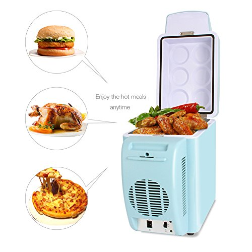 OJA Portable Car Refrigerator, 7L 12V Cooler/Warmer Electric Fridge for Trucks, Car, House, Dorm, Office,Outdoor, Travel, Camping (Blue) (Portable Refrigerator Camping compare prices)