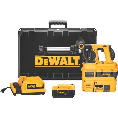DEWALT DC233KLDH 36-Volt SDS Rotary Hammer Kit and Dust Extraction System with HEPA Filter