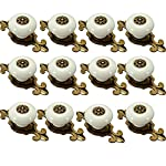 IdealDecor 12PCS Vintage Bronze Ceramic Knobs Handles Pulls for Cabinet Drawer Closet Dresser Cupboard Wardrobe Furniture Door Kitchen & Baby Kid's Children's Furniture Decor (Bronze-white)