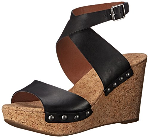 Lucky Women's Missey Wedge Sandal, Black, 10 M US (Shoes Inc Women Sandals compare prices)