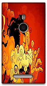 The Racoon Grip The Smoker hard plastic printed back case / cover for Nokia Lumia 925