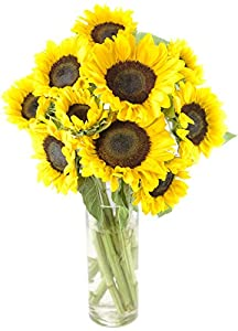 Happy Days Sunflowers - With Vase