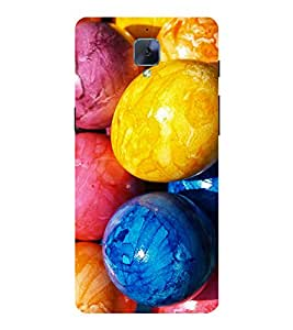 Colourful Easter Eggs 3D Hard Polycarbonate Designer Back Case Cover for OnePlus 3 :: OnePlus Three