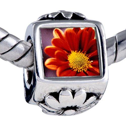 Pugster Orange Daisy Beads - Biagi Bead & Bracelet Compatible