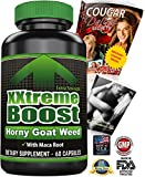 XXtremeBoost Horny Goat Weed - Last Longer In Bed - Epimedium Icariin Extract Maca Root Powder - 60 Top Rated ED Pills For Men & Women - Increased Performance & Stamina - Free Ebook - Made In USA
