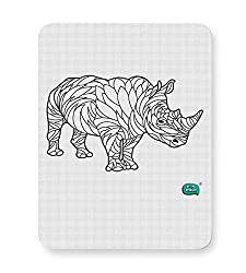 PosterGuy Mouse Pad - Rare Rhinocorous Portrait | Designed by: Being Indian