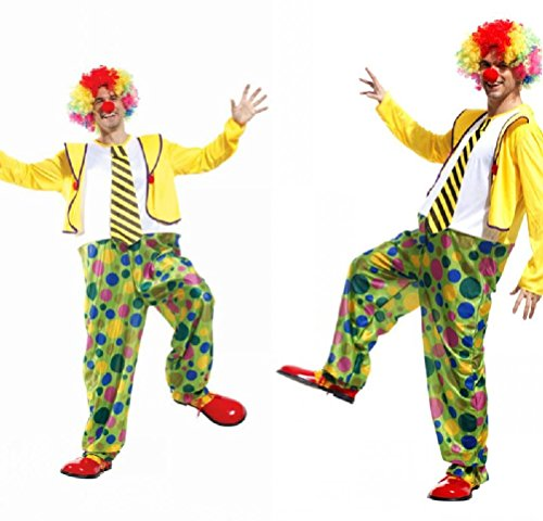 Purplebox Halloween Cosplay Costume Dress Adult Male Clown Suit
