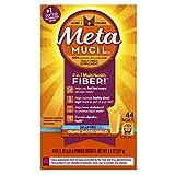 Metamucil Psyllium Fiber Supplement by Meta Orange Smooth Sugar Free Powder Packets, 44 Count