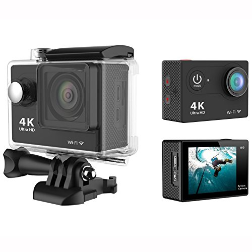Daretang(tm) H9 2.0 Inch 170 Degree 6g Ultra-wide Angle Lens 4k Ultra-hd 30-meter Waterproof Wi-fi Sports Diving Camera, with Gopro-style Waterproof Housing & Gopro-style User Interface (Black)