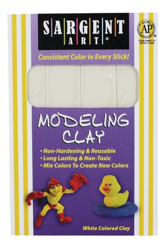 sargent-art-22-4096-1-pound-solid-color-modeling-clay-white