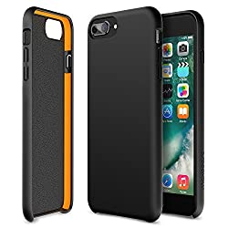 iPhone 7 Plus case, Maxboost SnapPro Heavy Duty Cases [GXD Impact Gel] EXTREME Shock-Absorption Thinnest Hard PC Covers Soft Touch Finish For iPhone 7 Plus 2016 & iPhone 6s/6s Plus- Jet Black