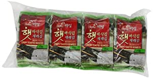 CJ Seasoned Seaweed Snacks, 0.18-Ounce Packages (Pack of 72) by CJ