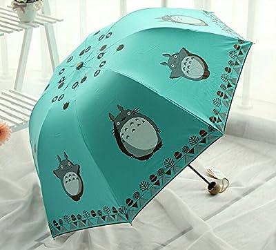 Mein Nachbar Totoro Nette Karikatur Sonnenschirme Regenschirm Drei Falten Regenschirm UV Super-Sonnenschirme Sonnen girls umbrellas [Can i do best] von Can i do best - Gartenmöbel von Du und Dein Garten