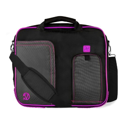 PURPLE Shear BLACK Pindar Durable Water-Repellent to Nylon Protective Carrying Case Hermes Shoulder Bag For Acer Aspire 14 inch Notebook Laptop Computer