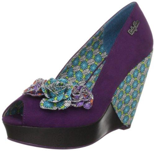 Ruby Shoo Women's Hayward Purple Wedges Heels 08113 6 UK