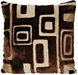 Brown Velvet Decorative Pillow Throw Case Designers Guild Fabric Cushion Cover Retro Quarenghi Cocoa