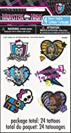 Monster High Tattoo Sheets 4ct