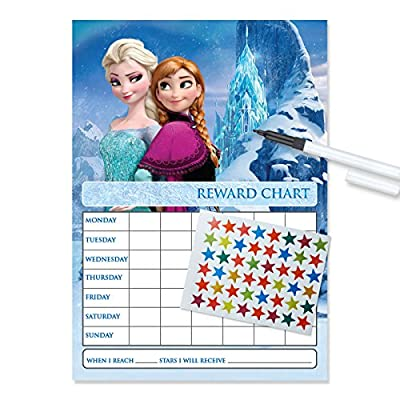Frozen Re-usable Reward Chart (including FREE Star Stickers and Pen)