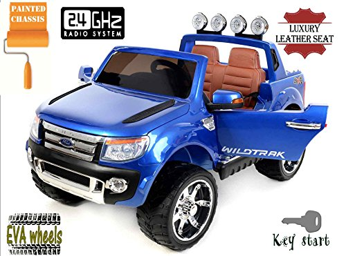 ford-ranger-wildtrak-luxury-elektrisches-auto-fur-kinder-24ghz-fernbedienung-2-motoren-zweisitzer-in