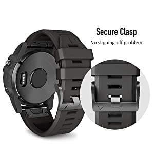 Ancool Compatible With Garmin Instinct Bands Soft Silicone Watch