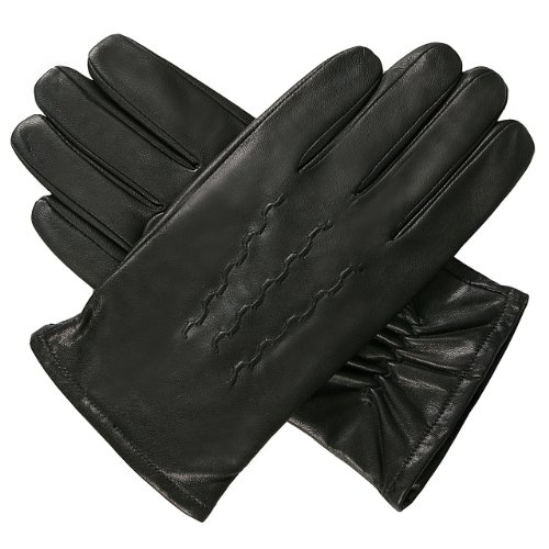 Luxury Lane Men's Cashmere Lined Goatskin Leather Gloves