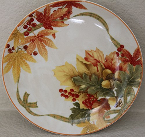 222 Fifth Autumn Celebration Dessert/appetizer Plates - Set of 4 - for Thanksgiving - 6 1/4
