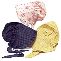 Child's Prairie Style Bonnet Medium Colors May Vary 100% Cotton Dress Up Hat from Americana
