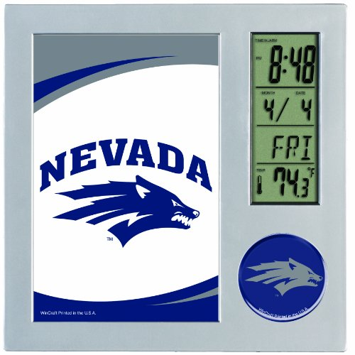 NCAA Nevada-Reno Wolfpack Digital Desk Clock Picture Frame