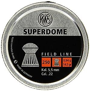 Umarex RWS Superdome 2317379 Field Line 14.5 Grain Air Gun Pellets, 0.22 Caliber, Silver