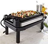 Wolfgang Puck Reversible Grill & Griddle Plus Stand 1800 Watt Dual Use BRGG1100