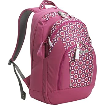 JanSport The Hex Backpack (White/Pink Dotpoly)