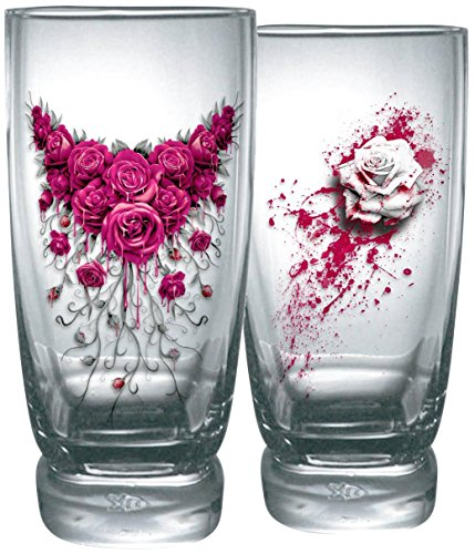 Spiral Blood Rose Set di bicchieri standard