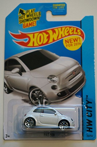 2014 Hot Wheels Hw City 25/250 - Fiat 500 - White [Ships in a Box!] - 1