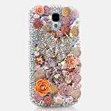 3D Luxury Swarovski Crystal Diamond Bling Butterfly Design Case Cover for Samsung Galaxy S4 S 4 IV i9500 fits Verizon, AT&T, T-mobile, Sprint and other Carriers (Handcrafted by BlingAngels)