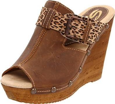 Sbicca Women's Spencer Wedge Sandal,Brown,7 B US