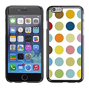 Omega Covers - Snap on Hard Back Case Cover Shell FOR Iphone 6/6S (4.7 INCH) - Dot Pastel White Color Pattern