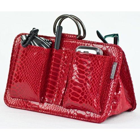 Fizpouch Handbag Organiser - Crimson Patent