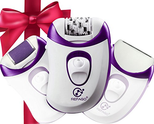 3 In 1 Epilator Electric Hair Removal Depilator Rechargeable Callus Shavers Cordless Remover Healthy And Smooth For Skin By REFAGO