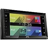 JVC 6.8-Inch Double DIN In-Dash Touchscreen Bluetooth Receiver | KWV320BT