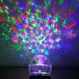 Ucharge Kaleidoscope Spotlight Rotating projection Led Light White or Multi Outdoor Christmas Light Show Crystal Ball Light Waterproof for Garden - Trees - Home - Kid's Room - Halloween - Party Decorations