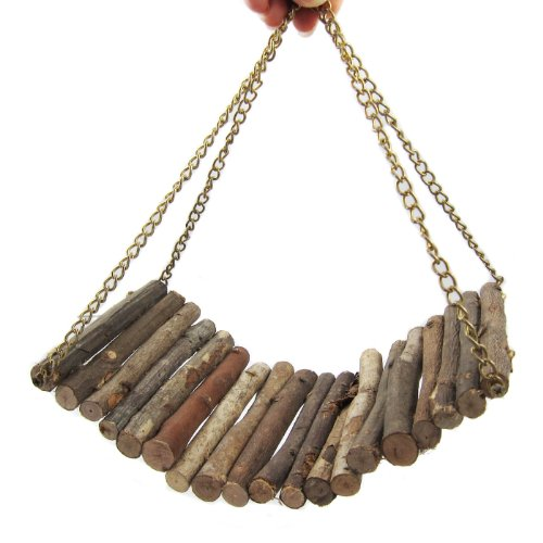 Alfie Lifestyle Small Animal Playground - Lami Wooden Swing (Toy For Mouse And Dwarf Hamster) - Size: Small front-812700