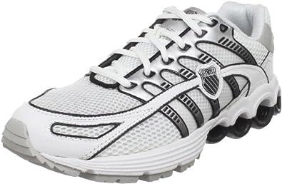 K-Swiss Men's Super Tubes Run 50 Running Shoe, White/Black/Silver, 7.5 M US