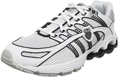 K-Swiss Men's Super Tubes Run 50 Running Shoe, White/Black/Silver, 8